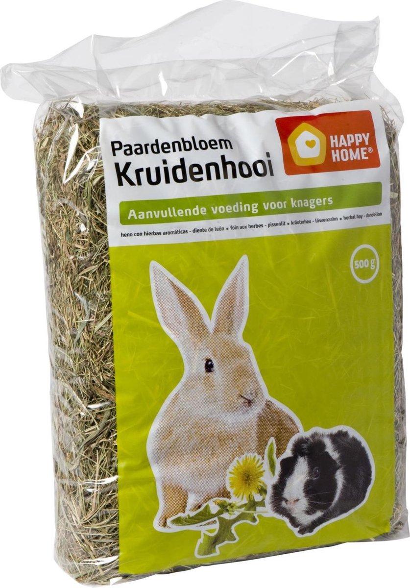 Happy Home Kruidenhooi - Paardebloem - Konijnenvoer - 500 g - Happy Home