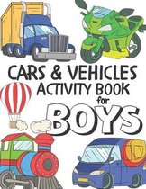 Cars & Vehicles Activity Book For Boys