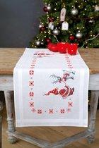 Tafelloper Kerstkabouters borduren (pakket)