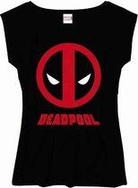 Deadpool - Logo Text Girls Vrouwen T-Shirt - Zwart - XL