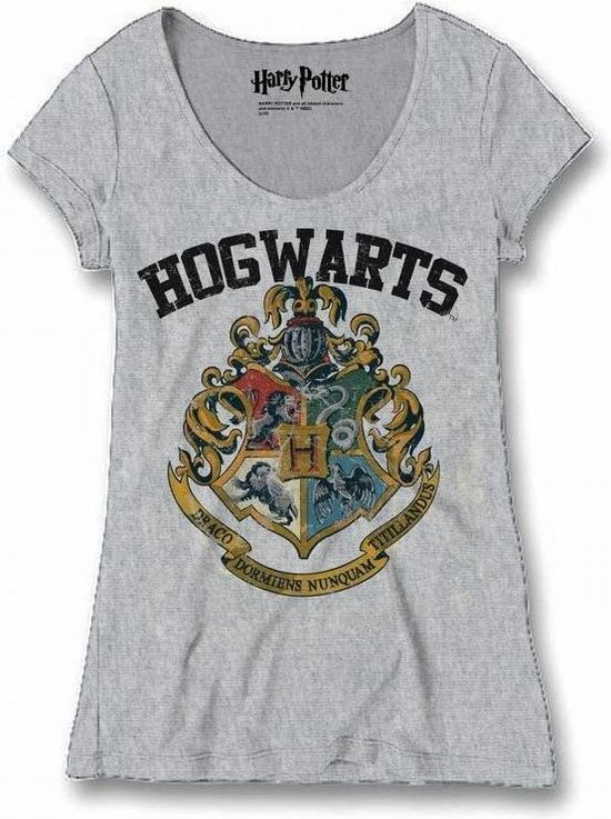 HARRY POTTER - T-Shirt Hogwarts Old School - GIRL (L)