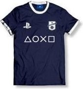 Playstation - FC Club Logo With Icons Men T-Shirt - Navy - XXL