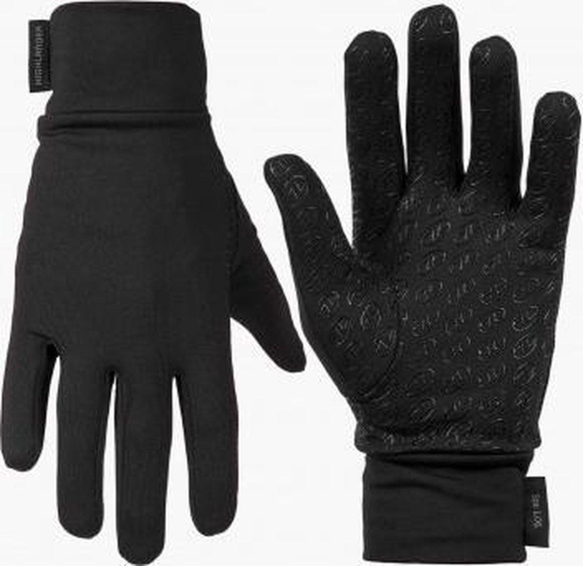 Highlander - Stretch grip handschoenen - Zwart - Maat S/M