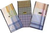 Zakdoeken Heren - Stripe Design Zakdoek - Exclusief Design - 3 Stuks - 40 x 40cm - Diverse Kleuren