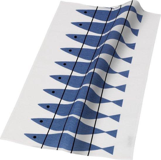 Almedahls theedoek Haring blauw