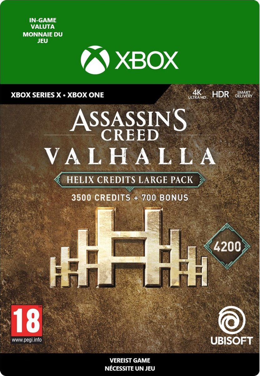 4.200 Assassin's Creed Valhalla Helix Credits Pack - In-game tegoed - Xbox One/Xbox Series X/S
