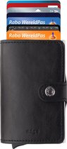 Adge - Pasjeshouder / Creditcardhouder - 100%  RFID - Portemonnee -  7 pasjes - leer - zwart