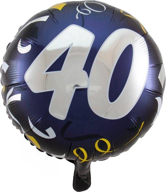 Folat Folieballon 40 Jaar 45 Cm Donkerblauw/wit