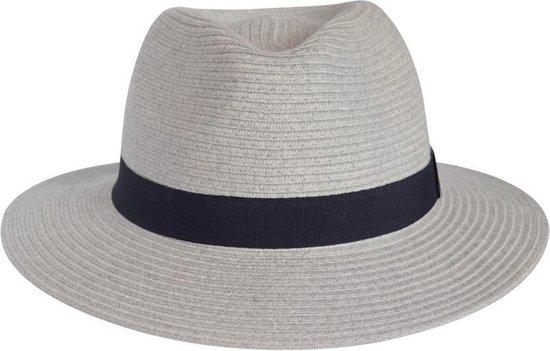 UV-werend Zon, Herfst, Winterhoed - Kreukbestendige Reishoed - Pana-mate Fedora - Maat: 58cm; Kleur: Licht Grijs