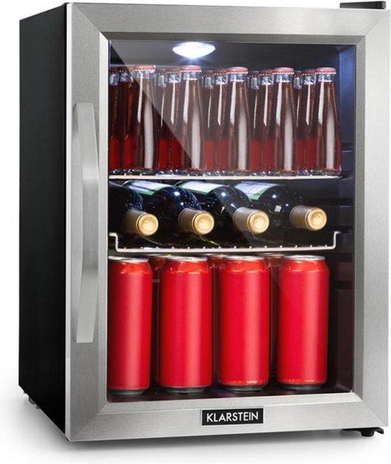 Koelkast: Klarstein Beersafe M - Barmodel koelkast 35 liter - 5 koelstanden - 42 dB - glazen deur - rvs frame, van het merk Klarstein