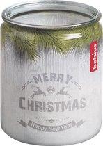 Bolsius Geurkaars Merry Christmas Glas/wax 6,8 Cm Wit