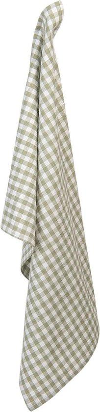 Clayre & Eef Theedoek CLA42-1GR 50*70 cm - Groen 100% Katoen Vaatdoek Keukendoek Schotelvod