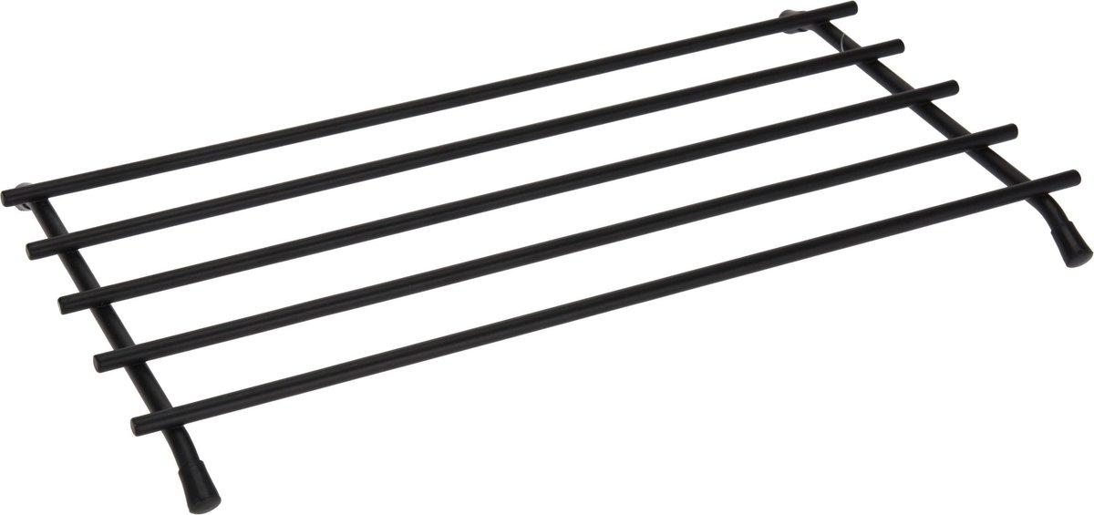 1x Metalen zwarte pannen/ovenschalen onderzetters 35 x 20 cm - Keukenbenodigdheden - Kookbenodigdhed