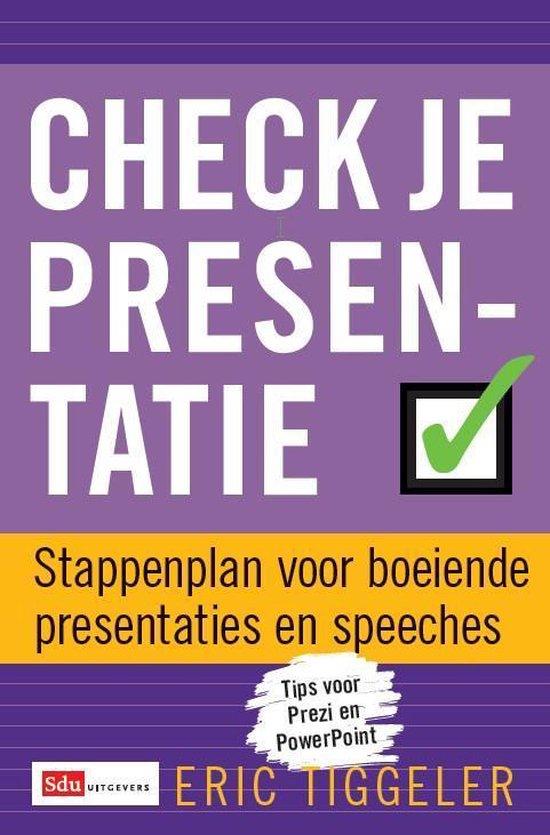 Check je presentatie - Eric Tiggeler pdf epub