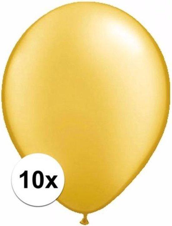 Metallic gouden ballonnen 10 stuks