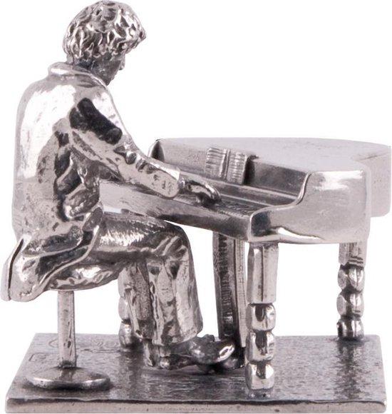 Beeldje Pianist - piano - vleugel - Tin - luxe geschenk