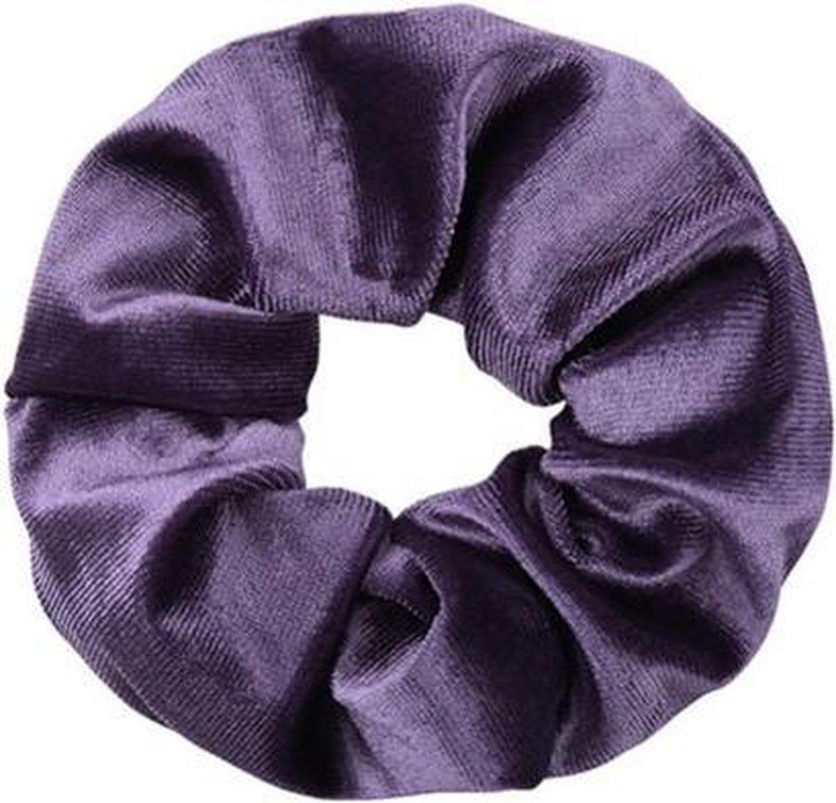 Velvet Scrunchie Lilac - Elastiekjes Enzo