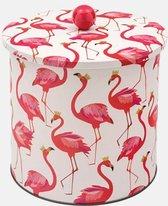 Bewaarbus Flamingo - Rond - Blik - Ø 17 x 17 cm - Sara Miller London