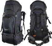 Beefree 80 Liter Backpack - Zwart | Inclusief regenhoes | Frontlader | Updated 2019 model