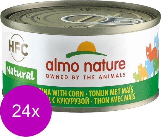 Almo Nature - Tonijn en Suikermais - Kattenvoer - 24 x 70 g