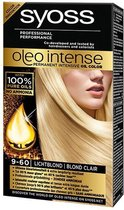 SYOSS Color Oleo Intense 9-60 Licht blond Haarverf  - 1 stuk
