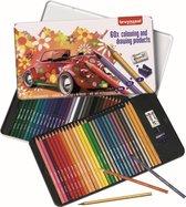 Afbeelding van Bruynzeel - 60-delig kleurblik met potloden, gum en slijper - Super Sixties Kever