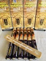 Bharath darshan wierook.  4 X doos X 6 pakjes= 24pakjes +wierookhouder van mangowood