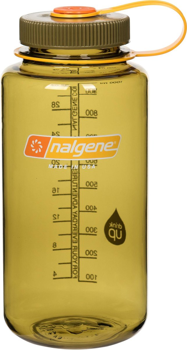 Nalgene Wide Mouth Bottle - drinkfles - 1.0 liter - BPA free - Olijf - Nalgene