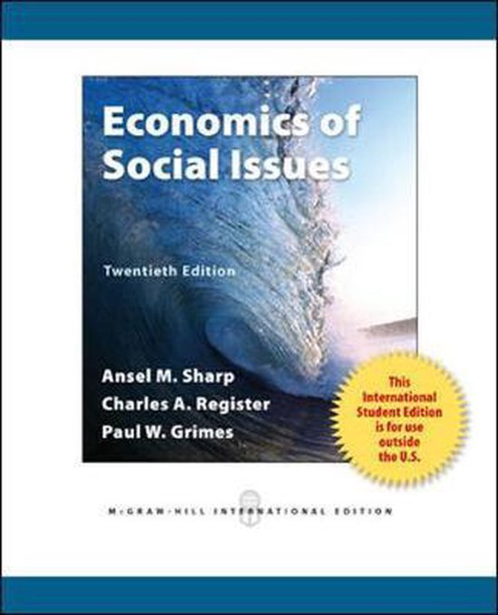 Boek cover Economics of Social Issues van Ansel Miree Sharp (Paperback)