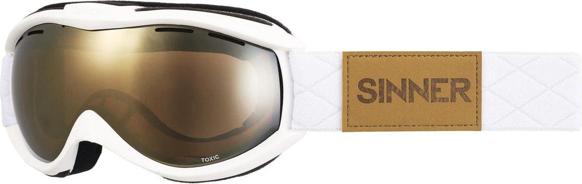 Sinner Toxic - Skibril - Volwassenen - Wit/Goud - SINNER