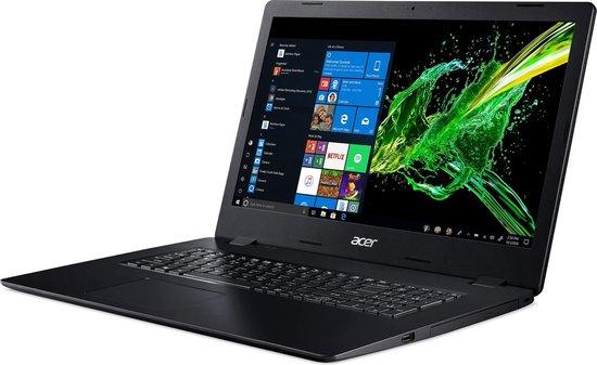 Acer Aspire 3 A317-51K-37GG Notebook Zwart 43,9 cm (17.3'') 1600 x 900 Pixels Zevende generatie Intel® Core™ i3 4 GB DDR4-SDRAM 256 GB SSD Wi-Fi 5 (802.11ac) Windows 10 Home