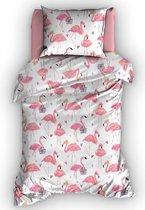 Duimelot Dekbedovertrek Flamingo-120 x 150 cm