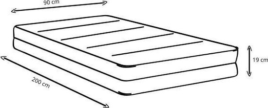 Beter Bed Basic Easy Pocket - Pocketveermatras - 90 x 200