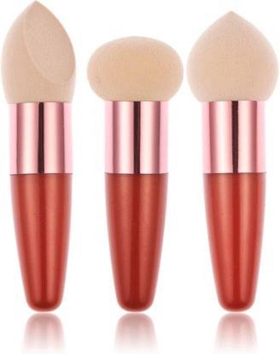 Make-Up Spons Kwastenset 3-delig - Mixcoco