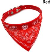 Verstelbare Halsband met Bandana voor Hond | Rood | Huisdier Accessoires