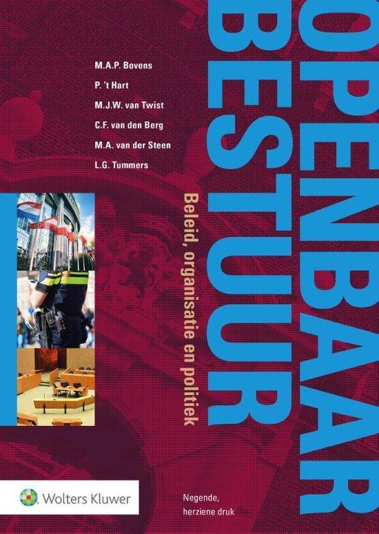 Boek cover Openbaar Bestuur, beleid, organisatie en politiek van M.A.P. Bovens (Paperback)