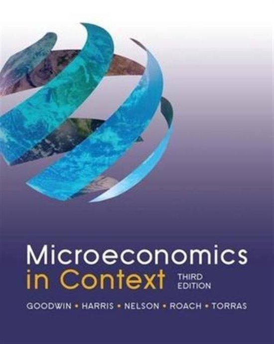 Boek cover Microeconomics in Context van Neva Goodwin (Hardcover)