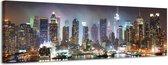 Manhattan - Canvas Schilderij Panorama 118 x 36 cm