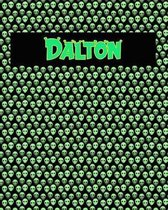 120 Page Handwriting Practice Book with Green Alien Cover Dalton