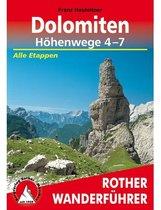 Dolomiten Höhenwege 4-7 WF Rother