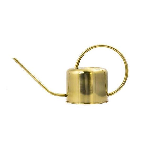 Kikkerland Gouden Vintage Gieter - Voor op de vensterbank - Plantjes water geven - 1,2 Liter