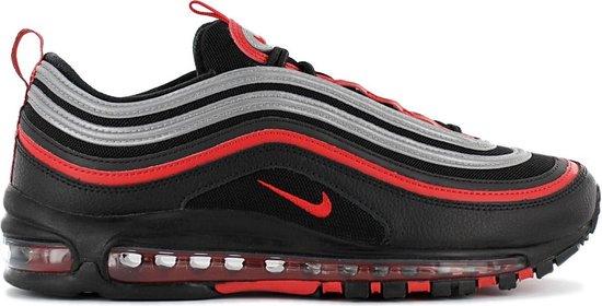 Nike Air Max 97 Heren Sneaker Sportschoenen Schoenen Zwart-Rood 921826-014  - Maat EU 44.5 US 10.5