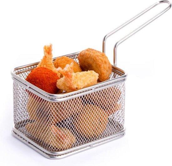 Serveer frituurmandje mini 1 stuks