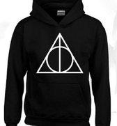 Hoodie sweater | Harry Potter inspired | Triangle | maat 164 (14-15 jaar)