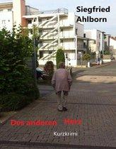 Boek cover Des anderen Herz van Siegfried Ahlborn