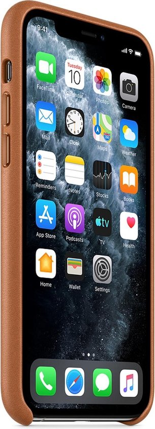 Apple Leren Hoesje voor iPhone 11 Pro - Saddle Brown