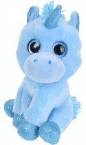 Tender Toys Knuffeleenhoorn 16 Cm Blauw