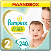 Pampers Premium Protection Luiers - Maat 2 (4-8 kg) - 240 stuks - Maandbox