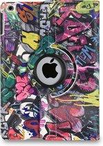 Apple iPad Hoes - 360° Draaibaar -Voor de iPad Air 2 - 'Graffiti' - Uniek Design