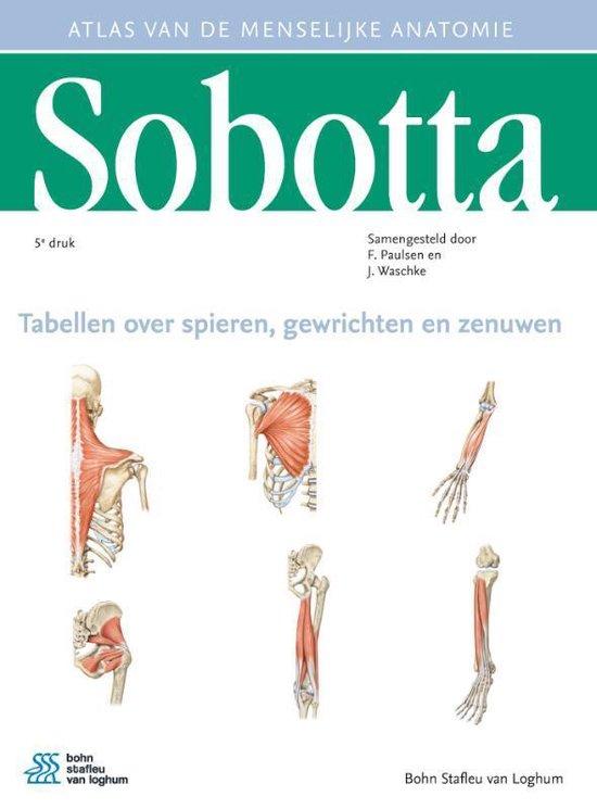 Boek cover Sobotta Tabellen over spieren, gewrichten en zenuwen van Sobotta (Paperback)